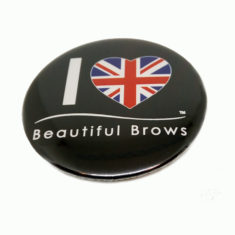 Reklamní placka s logem Beautiful Brows