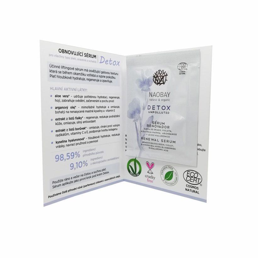 Vzorek: Obnovující sérum Detox- sáček