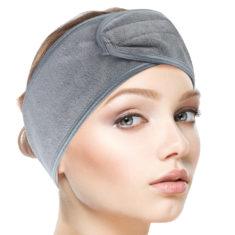 Kosmetická čelenka – šedá