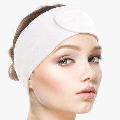 Kosmetická čelenka – bílá